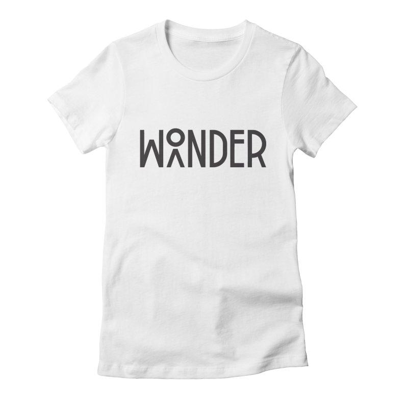 Wonder Wander Women's Fitted T-Shirt by Joshua Gille's Artist Shop