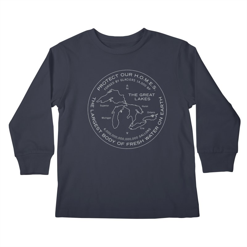Protect Our H.O.M.E.S. Seal — White Kids Longsleeve T-Shirt by Joshua Gille's Artist Shop