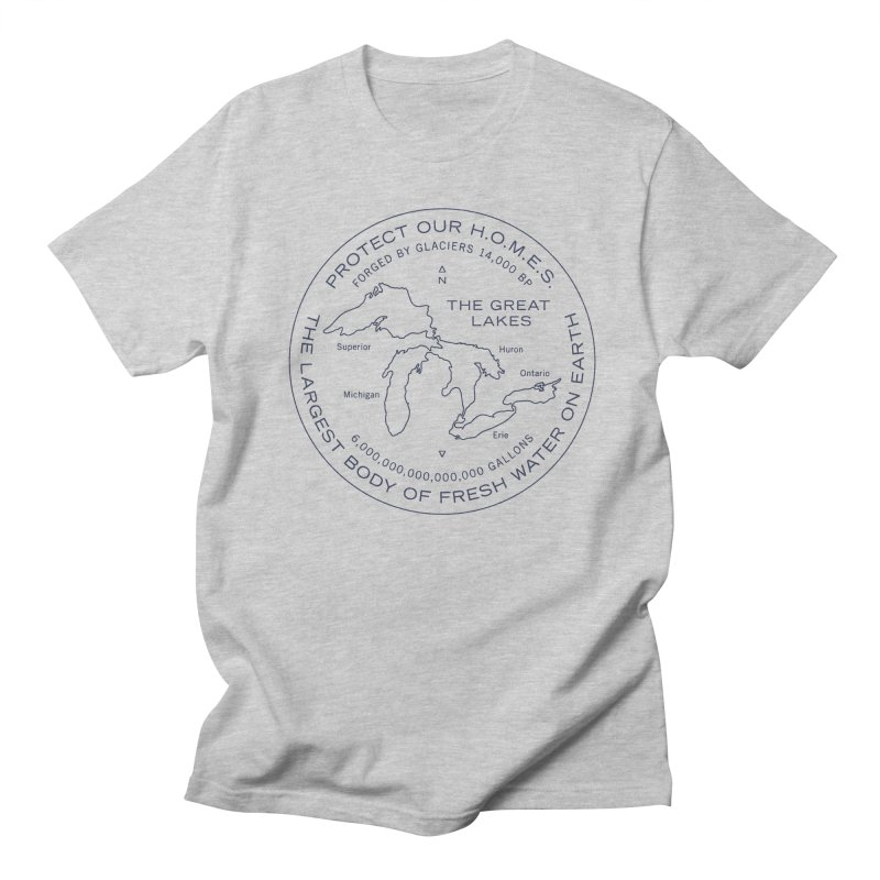 Protect Our H.O.M.E.S. Seal — Blue in Men's Regular T-Shirt Heather Grey by Joshua Gille's Artist Shop