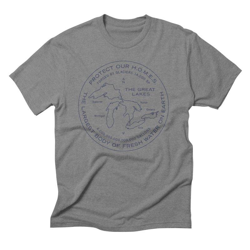 Protect Our H.O.M.E.S. Seal — Blue Men's T-Shirt by Joshua Gille's Artist Shop