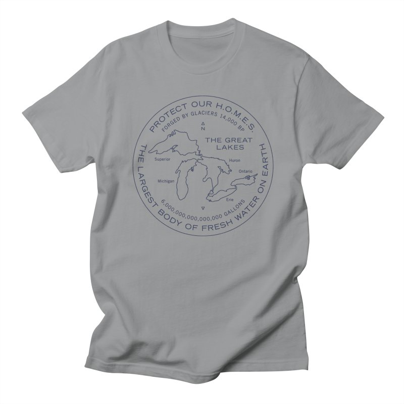 Protect Our H.O.M.E.S. Seal — Blue Men's Regular T-Shirt by Joshua Gille's Artist Shop