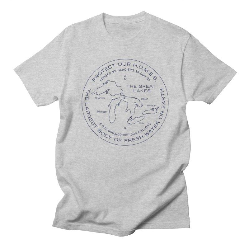 Protect Our H.O.M.E.S. Seal — Blue in Men's T-shirt Heather Grey by Joshua Gille's Artist Shop