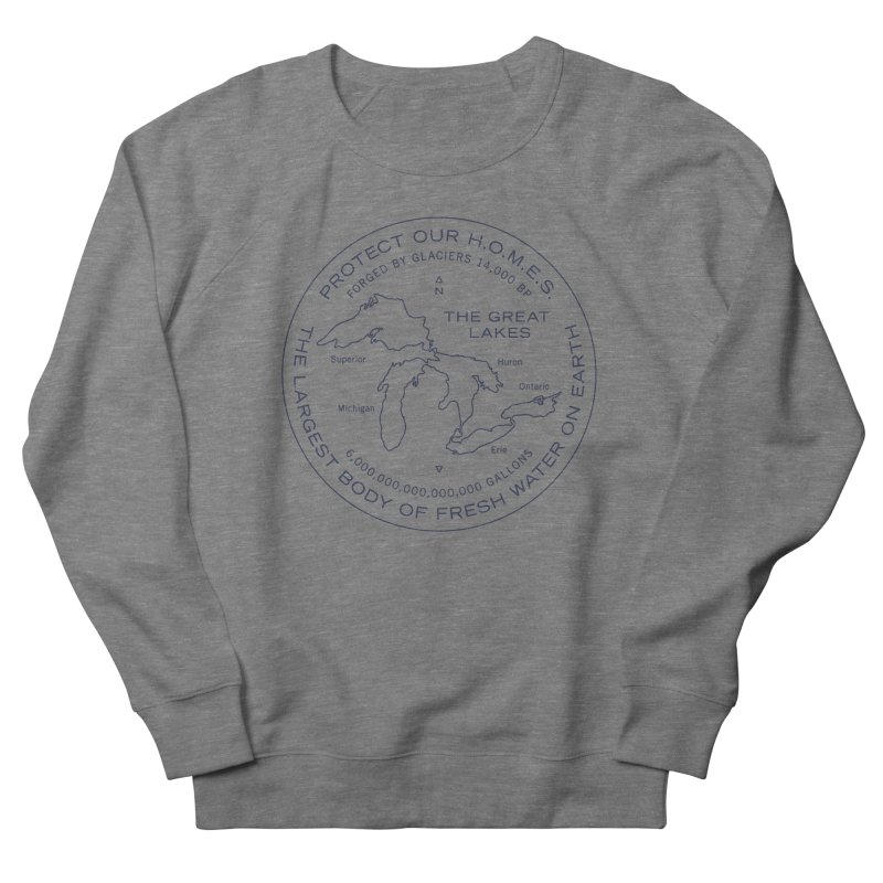 Protect Our H.O.M.E.S. Seal — Blue Men's French Terry Sweatshirt by Joshua Gille's Artist Shop