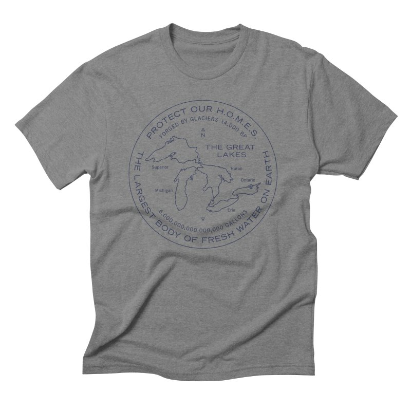 Protect Our H.O.M.E.S. Seal — Blue Men's Triblend T-Shirt by Joshua Gille's Artist Shop