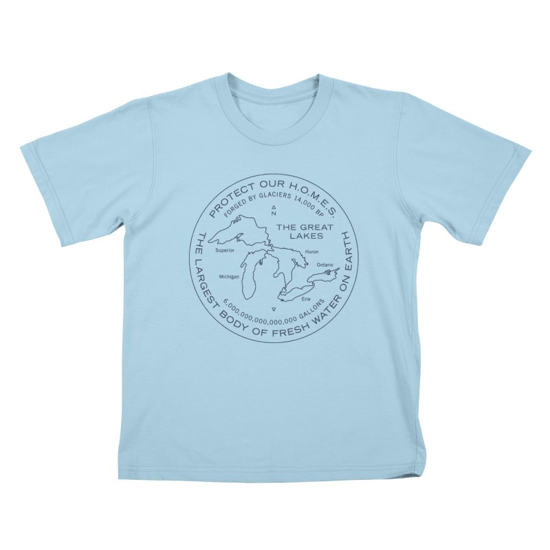 Protect Our H.O.M.E.S. Seal — Blue Kids T-Shirt by Joshua Gille's Artist Shop