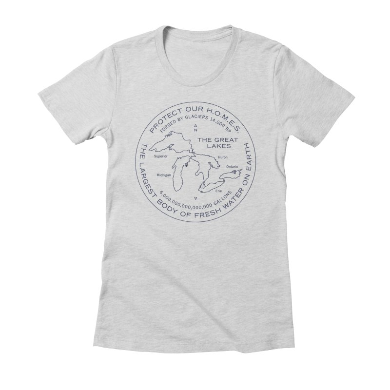 Protect Our H.O.M.E.S. Seal — Blue Women's Fitted T-Shirt by Joshua Gille's Artist Shop
