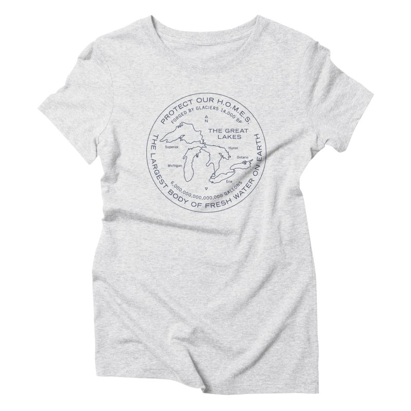 Protect Our H.O.M.E.S. Seal — Blue Women's Triblend T-Shirt by Joshua Gille's Artist Shop