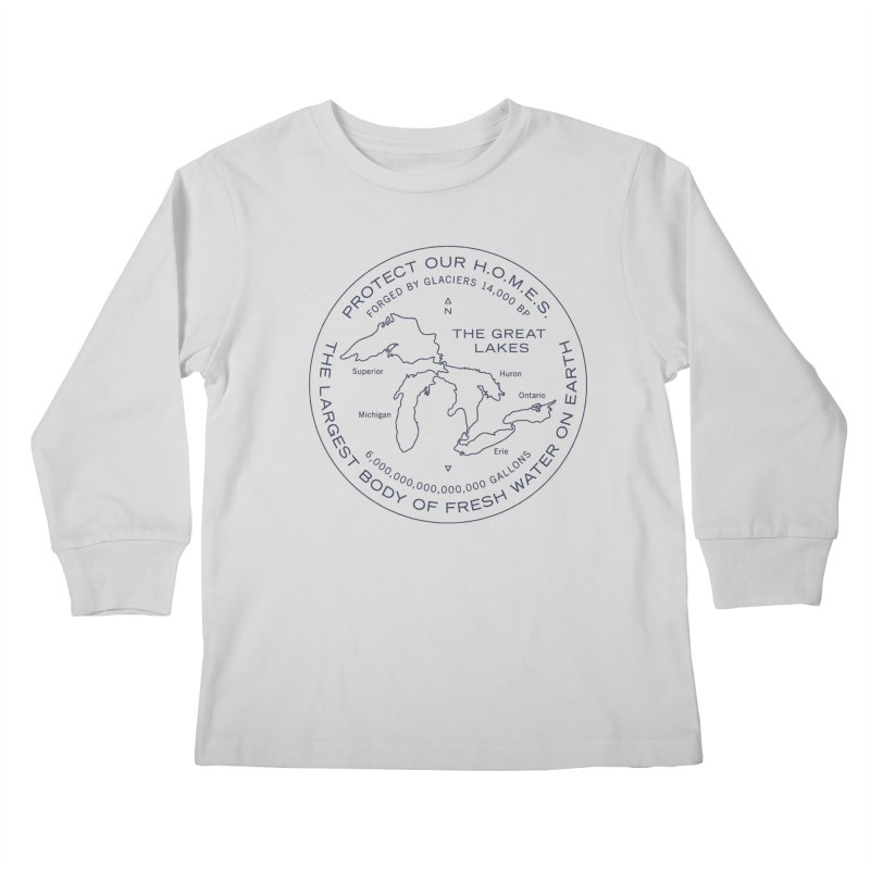 Protect Our H.O.M.E.S. Seal — Blue Kids Longsleeve T-Shirt by Joshua Gille's Artist Shop