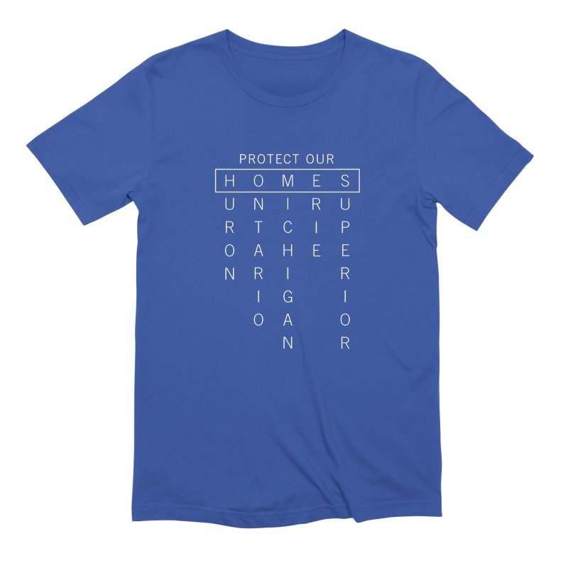 Protect Our H.O.M.E.S.  — White Men's Extra Soft T-Shirt by Joshua Gille's Artist Shop