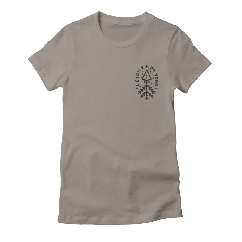 The Star of the North Women's Fitted T-Shirt by Joshua Gille's Artist Shop