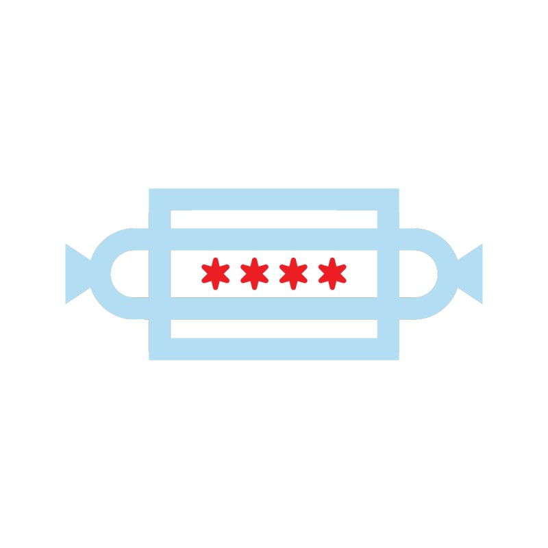 Chicago Dog Flag Men's Sweatshirt by Joshua Gille's Artist Shop
