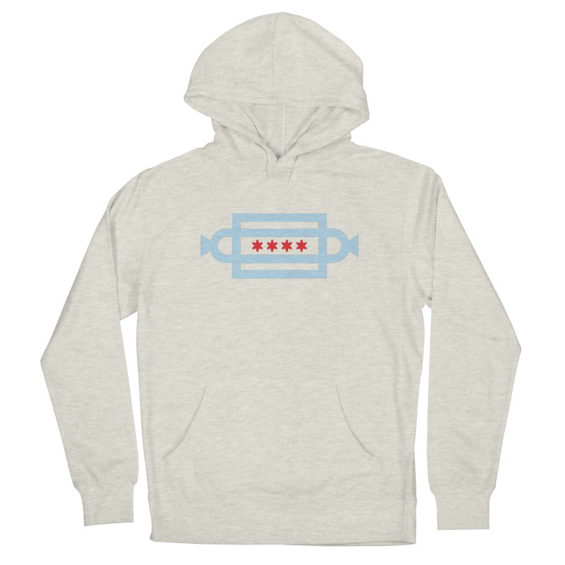 Chicago Dog Flag Men's French Terry Pullover Hoody by Joshua Gille's Artist Shop