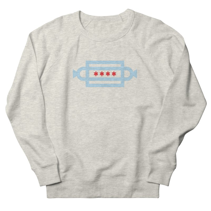 Chicago Dog Flag Women's French Terry Sweatshirt by Joshua Gille's Artist Shop