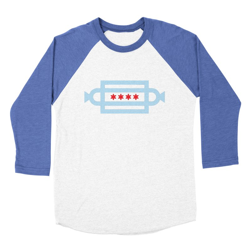 Chicago Dog Flag Women's Baseball Triblend Longsleeve T-Shirt by Joshua Gille's Artist Shop
