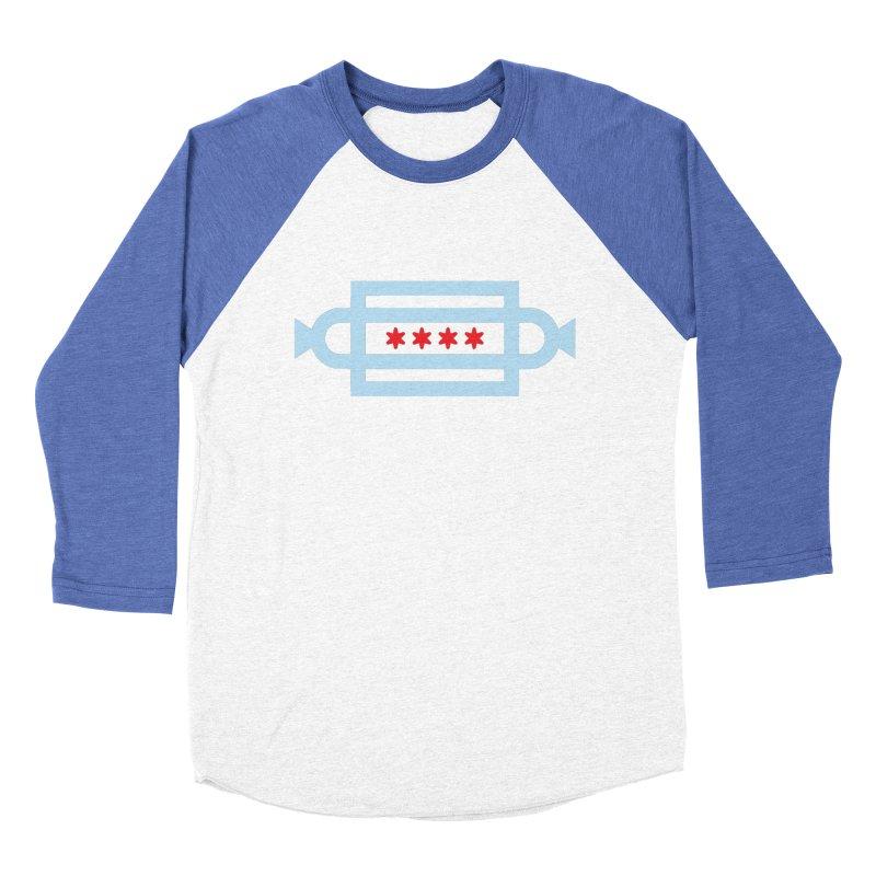 Chicago Dog Flag Men's Baseball Triblend Longsleeve T-Shirt by Joshua Gille's Artist Shop