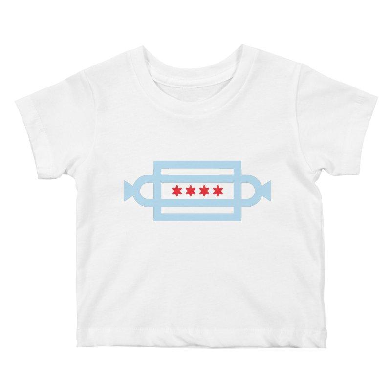 Chicago Dog Flag Kids Baby T-Shirt by Joshua Gille's Artist Shop