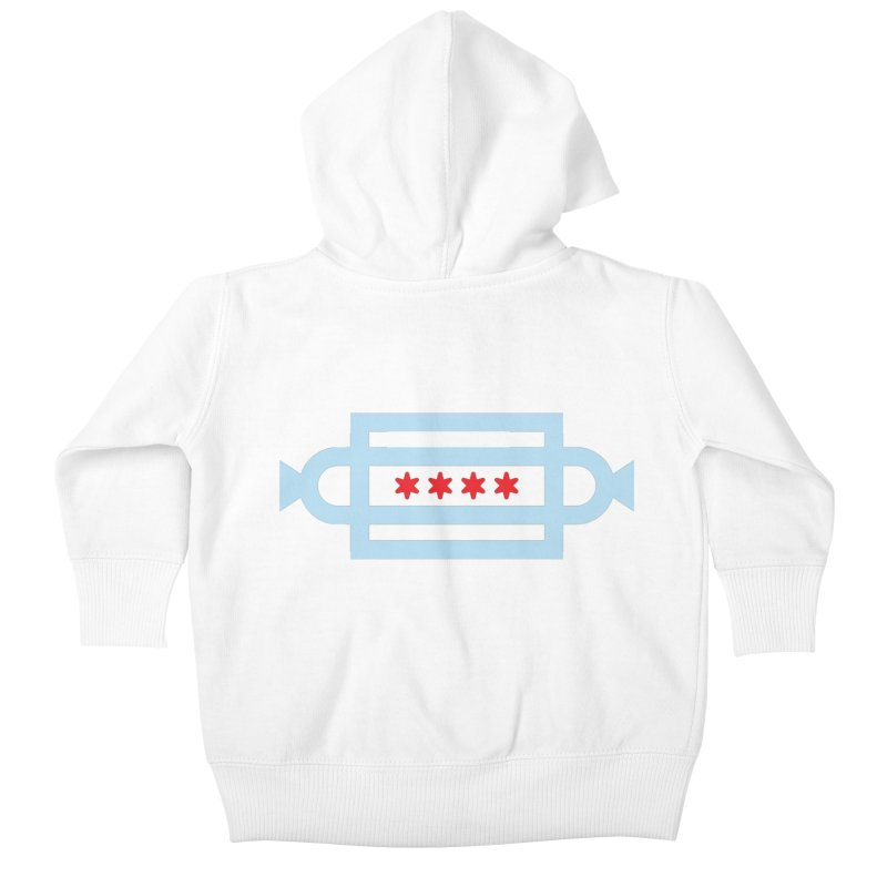 Chicago Dog Flag Kids Baby Zip-Up Hoody by Joshua Gille's Artist Shop