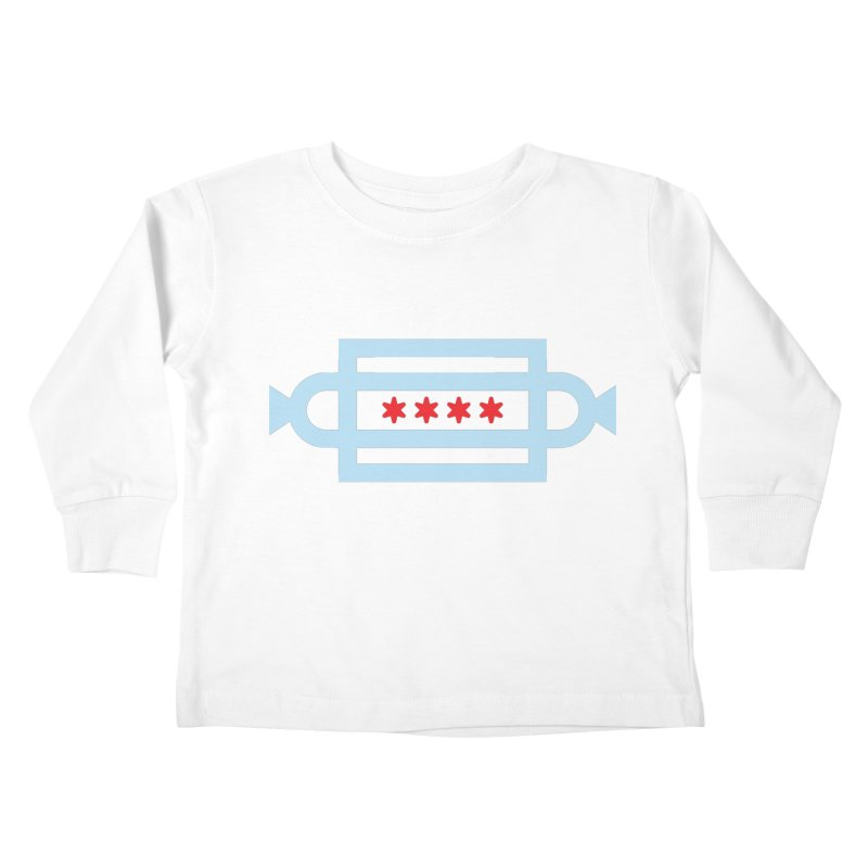 Chicago Dog Flag Kids Toddler Longsleeve T-Shirt by Joshua Gille's Artist Shop