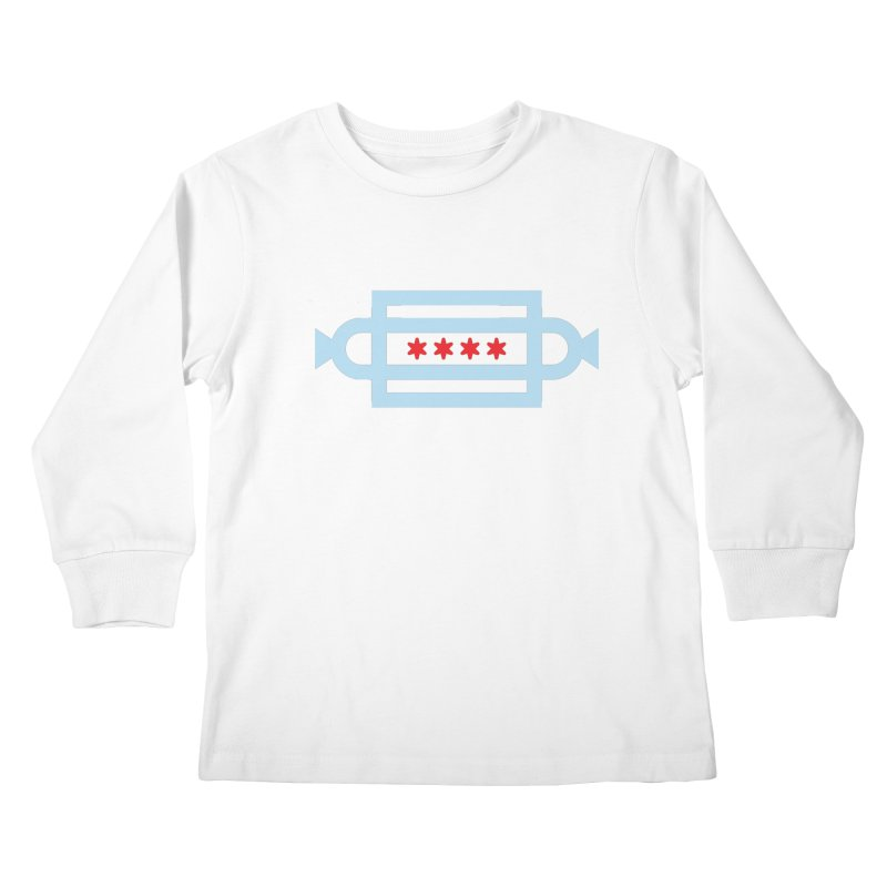Chicago Dog Flag Kids Longsleeve T-Shirt by Joshua Gille's Artist Shop