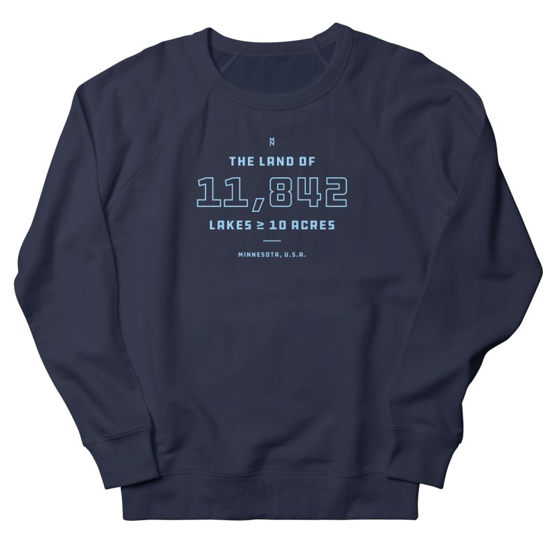 Land of Lakes Men's French Terry Sweatshirt by Joshua Gille's Artist Shop
