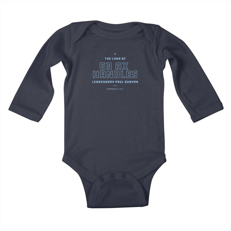 Land of 63 Ax Handles Kids Baby Longsleeve Bodysuit by Joshua Gille's Artist Shop