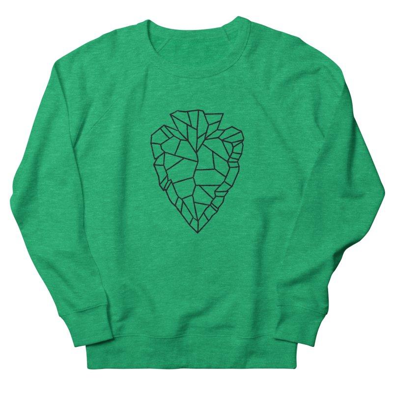 Heart Arrowhead Women's French Terry Sweatshirt by Joshua Gille's Artist Shop
