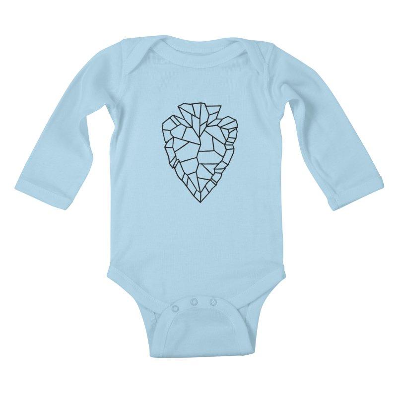Heart Arrowhead Kids Baby Longsleeve Bodysuit by Joshua Gille's Artist Shop