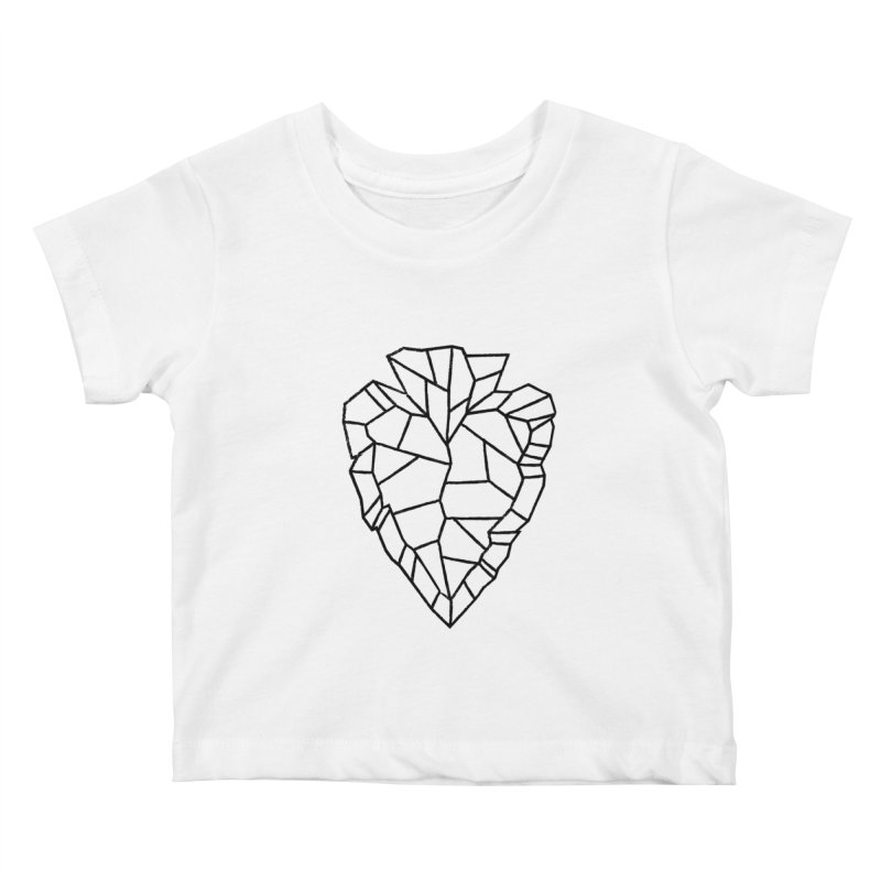 Heart Arrowhead Kids Baby T-Shirt by Joshua Gille's Artist Shop