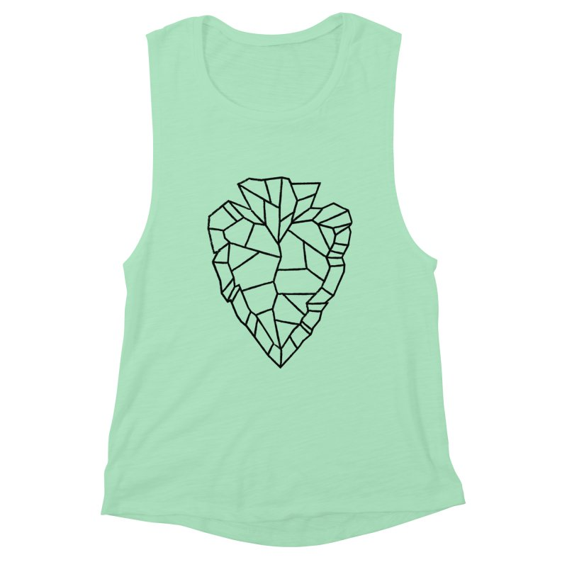 Heart Arrowhead Women's Muscle Tank by Joshua Gille's Artist Shop