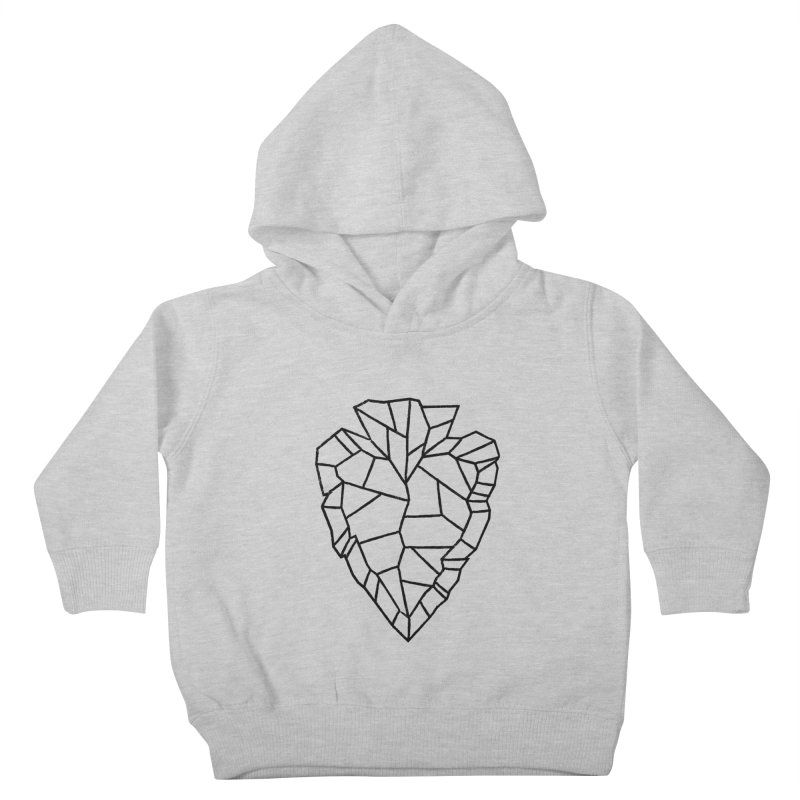 Heart Arrowhead Kids Toddler Pullover Hoody by Joshua Gille's Artist Shop