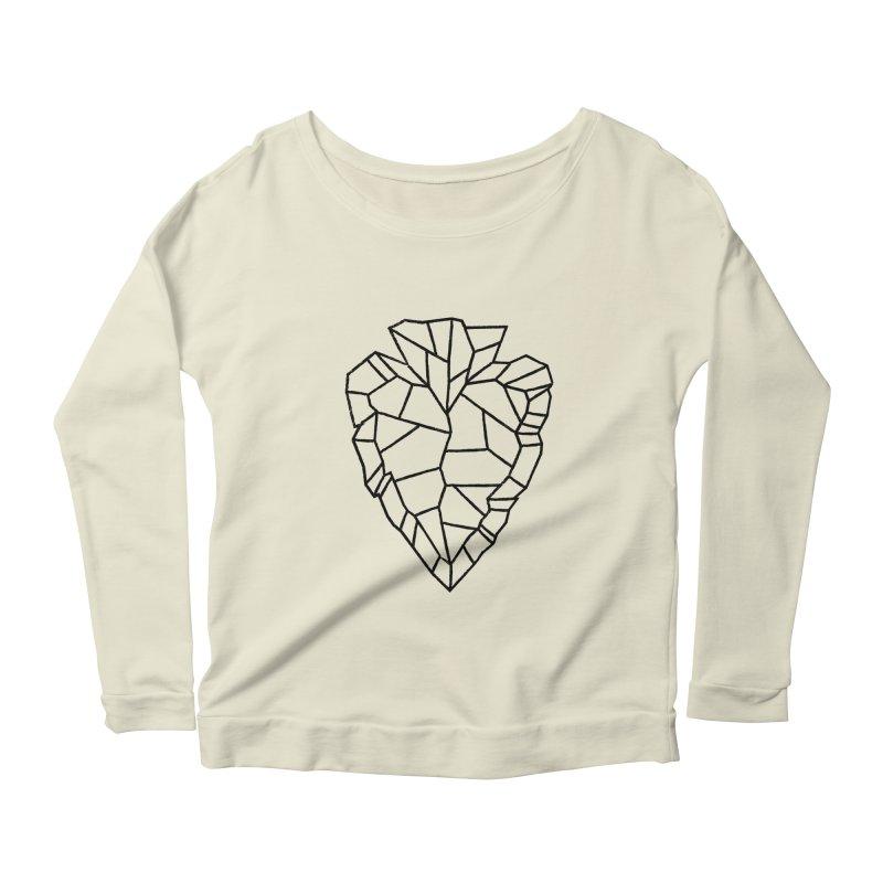 Heart Arrowhead Women's Scoop Neck Longsleeve T-Shirt by Joshua Gille's Artist Shop