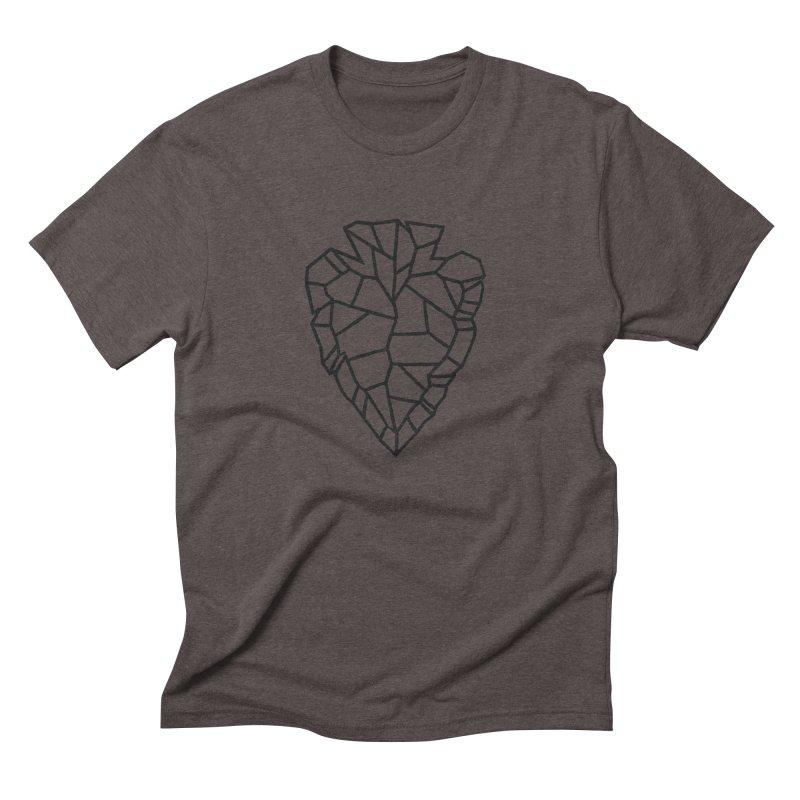 Heart Arrowhead in Men's Triblend T-Shirt Tri-Coffee by Joshua Gille's Artist Shop