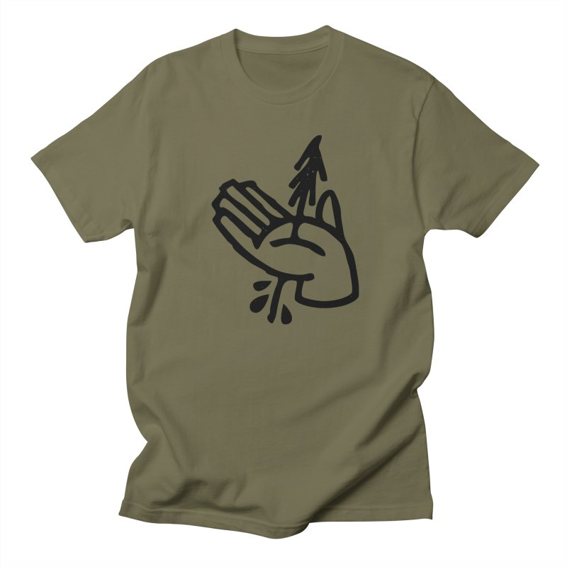 The Environmentalist in Men's Regular T-Shirt Olive by Joshua Gille's Artist Shop