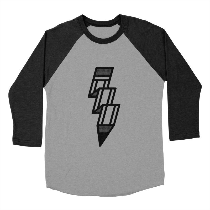 Creative Flash in Women's Baseball Triblend Longsleeve T-Shirt Heather Onyx Sleeves by Joshua Gille's Artist Shop