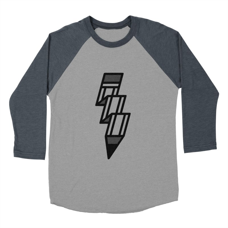 Creative Flash Men's Baseball Triblend Longsleeve T-Shirt by Joshua Gille's Artist Shop