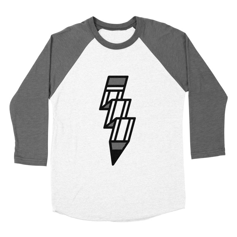 Creative Flash Men's Baseball Triblend Longsleeve T-Shirt by Joshua Gille's Artist Shop