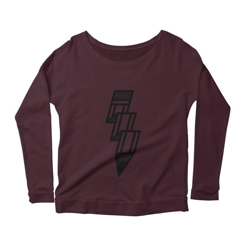 Creative Flash Women's Scoop Neck Longsleeve T-Shirt by Joshua Gille's Artist Shop