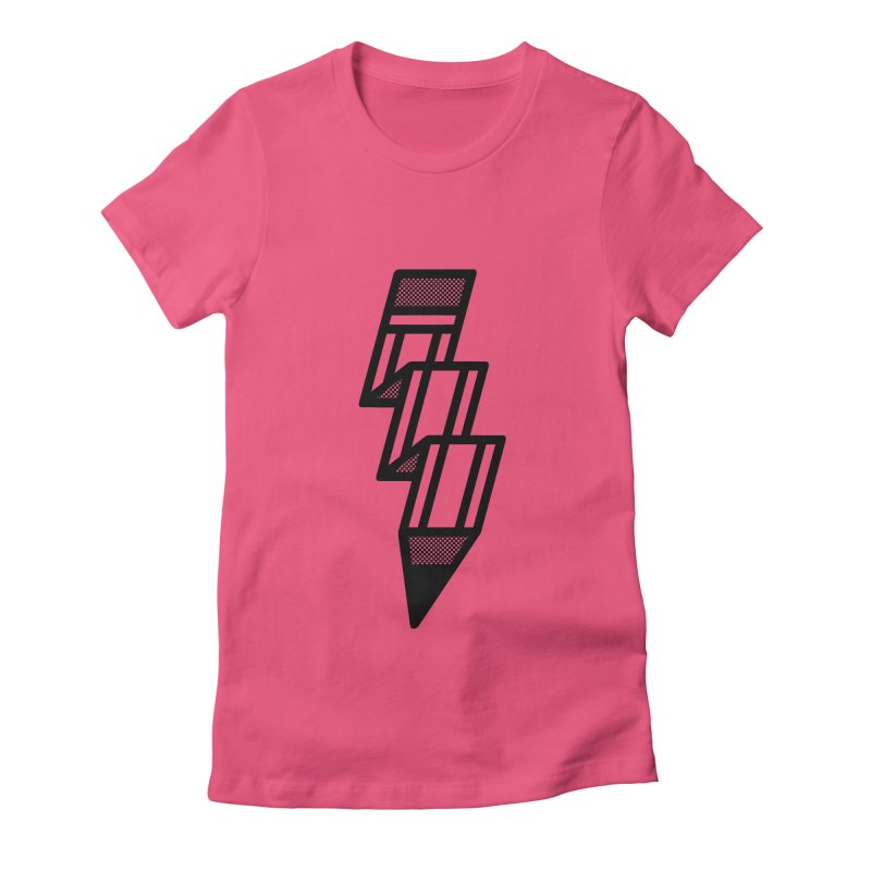 Creative Flash Women's Fitted T-Shirt by Joshua Gille's Artist Shop