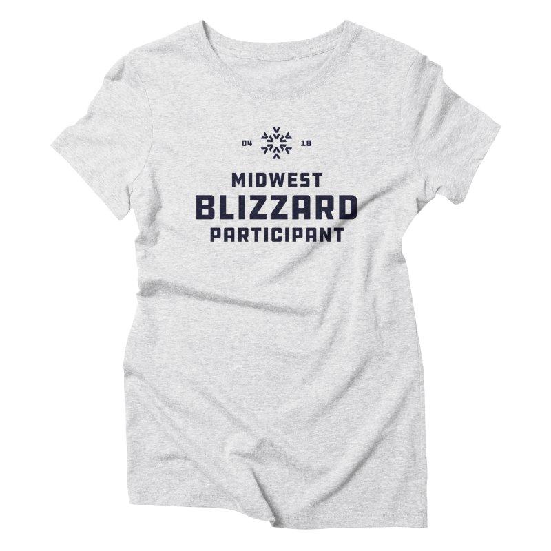 Midwest Blizzard Participant Women's Triblend T-Shirt by Joshua Gille's Artist Shop