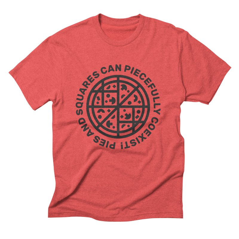 Piecefully Coexist in Men's Triblend T-shirt Chili Red by Joshua Gille's Artist Shop