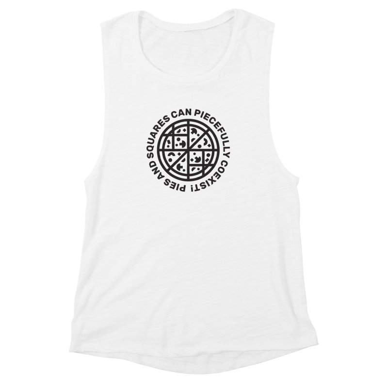 Piecefully Coexist Women's Muscle Tank by Joshua Gille's Artist Shop