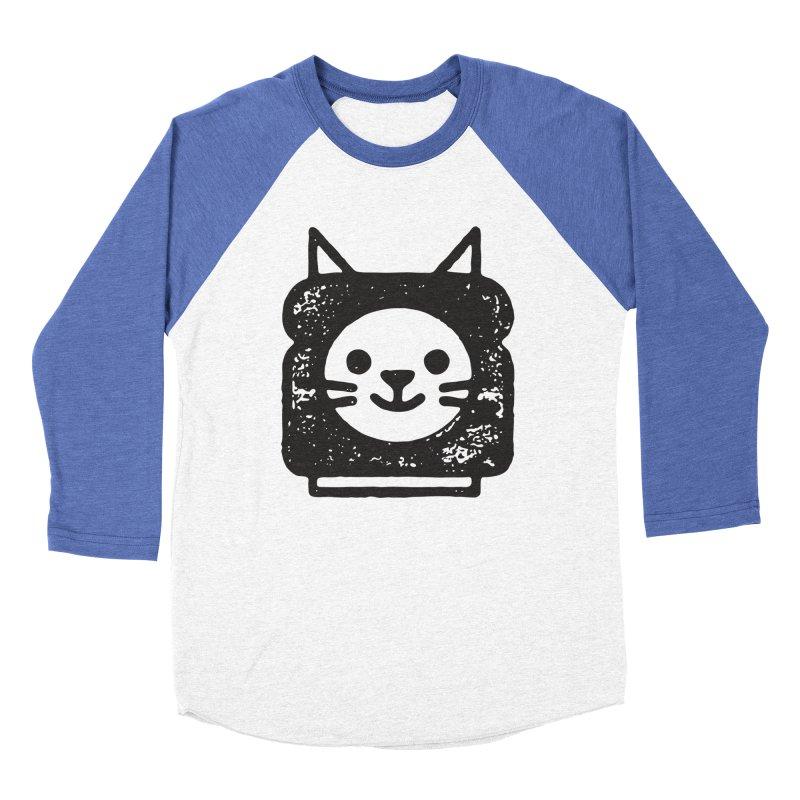 Cat In Bread Men's Baseball Triblend Longsleeve T-Shirt by Joshua Gille's Artist Shop