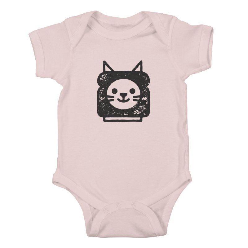 Cat In Bread Kids Baby Bodysuit by Joshua Gille's Artist Shop