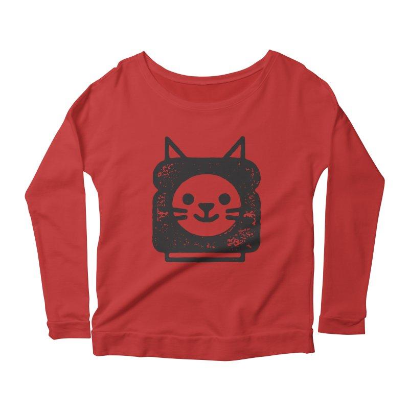 Cat In Bread Women's Scoop Neck Longsleeve T-Shirt by Joshua Gille's Artist Shop