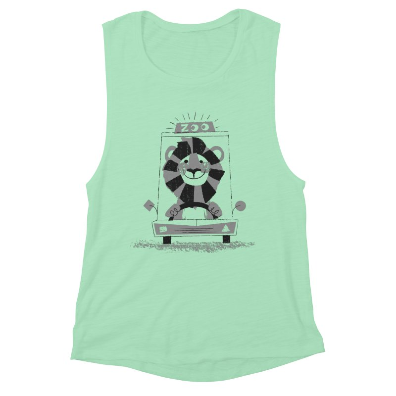 Zoo Taxi Women's Muscle Tank by Joshua Gille's Artist Shop