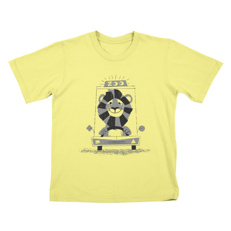 Zoo Taxi in Kids T-shirt Canary by Joshua Gille's Artist Shop