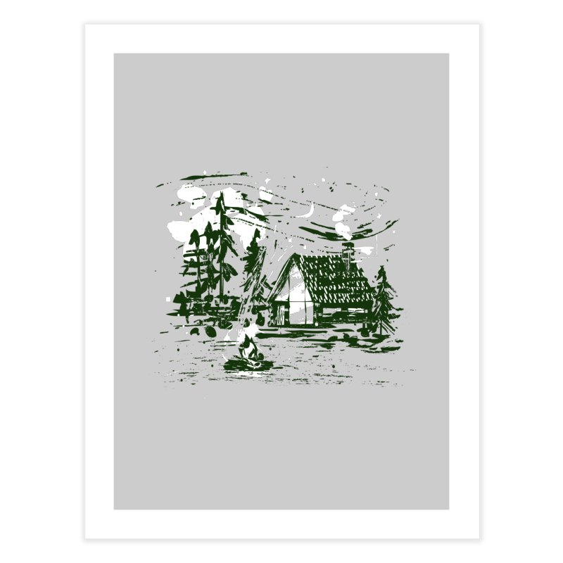 Inky Cabin Home Fine Art Print by Joshua Gille's Artist Shop