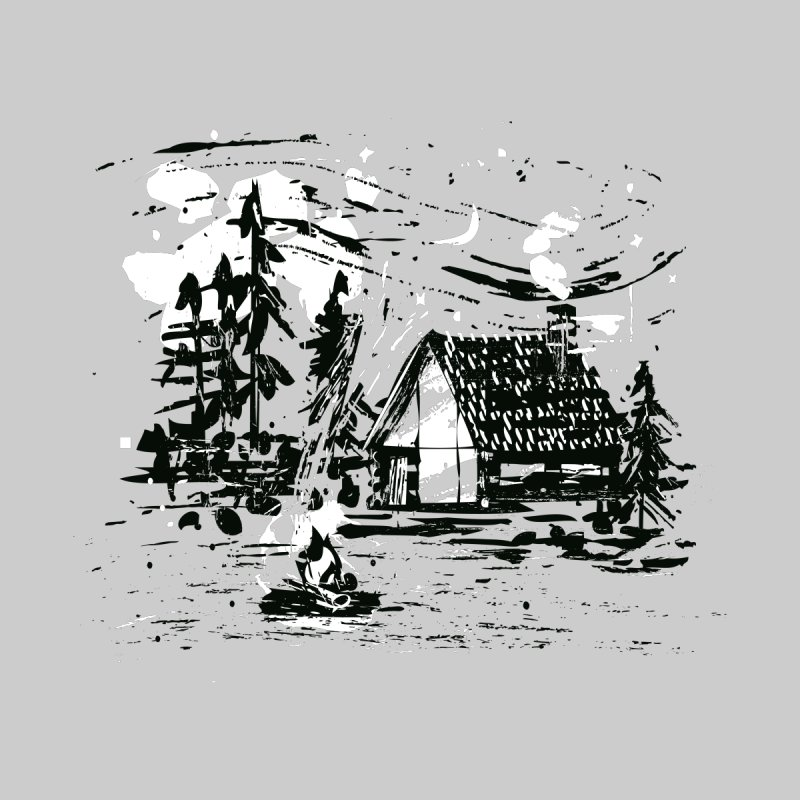 Inky Cabin Women's Scoop Neck by Joshua Gille's Artist Shop