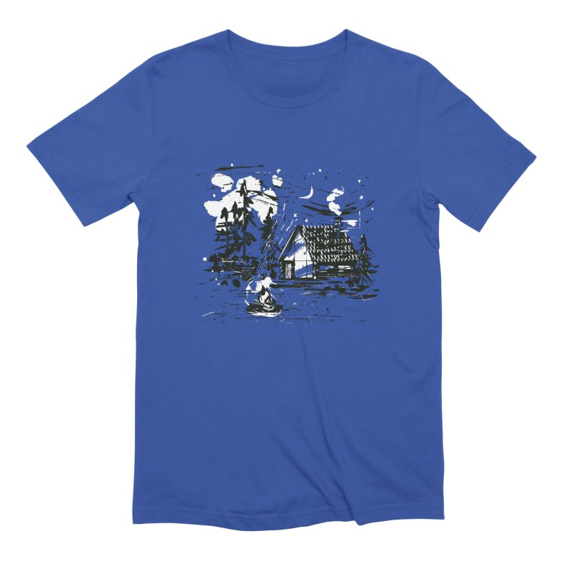 Inky Cabin Men's Extra Soft T-Shirt by Joshua Gille's Artist Shop