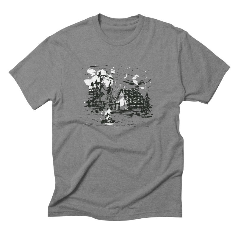 Inky Cabin Men's T-Shirt by Joshua Gille's Artist Shop